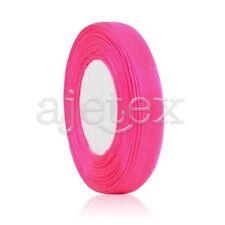 "50 Yards 1/8""3mm Sheer Organza Ribbon Craft Bows Wedding Supply Peach Pink OBS"