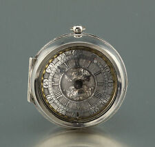 Mint Thomas Ested Oignon pocket watch circa 1700 Champleve dial Spindeluhr