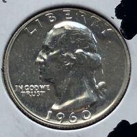 USA 1960 Washington Quarter Proof PP Sehr Selten Polierte Platte Silber