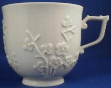 Antique Unknown German Porcelain Prunus Blossom Blanc de Chine Cup Porzellan