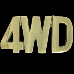 Brass 4WD Suv Truck 4x4 ATV Lifted Jeep Owner Gift 1970s Vintage Belt Buckle