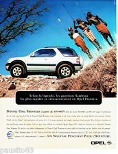 PUBLICITE ADVERTISING 096  1999  Opel  Frontera  les guerriers Samburu 2.2 dti
