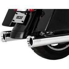 "Vance & Hines Chrome 4"" Eliminator 400 Slip-On Exhaust Mufflers for 95-16 Harley"