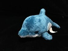 "Nat & Jules Blue White Dolphin Plush Soft Toy 7"" Stuffed Animal Demdaco"