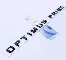 1x OEM Black OPTIMUS PRIME Nameplate Emblem Badge for Silverado Ford Truck W1U