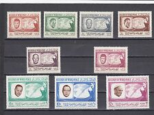 a129 - YEMEN - SG374-379 & 381-383 MNH 1966 BUILDERS OF WORLD PEACE
