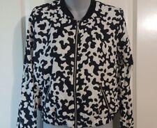 Juniors Jacket Black & White Lightweight Fashion Bongo Brand S Small NWT New