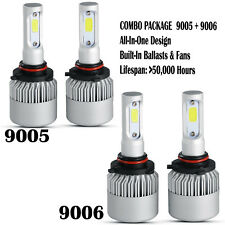 9005+9006 Combo 1960W 294000LM CREE LED Headlight Kit High&Low Beam Light Bulbs