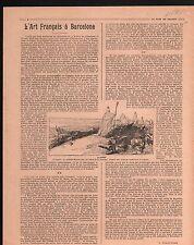 WWI Exposition de l'Art Français Barcelone/Scarpe Nord Arras 1917 ILLUSTRATION
