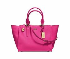 NWT Coach Crosby Carryall Purse Tote Crossgrain Leather Pink Ruby 33995