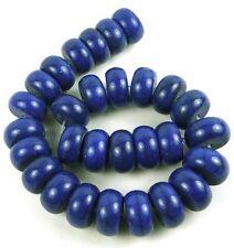 """14x7mm Indigo Blue Turquoise Rondelle  Beads 8"""""""
