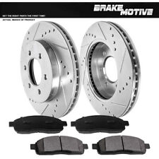 Front Drill Brake Rotors & Metallic Pads For 2004 2005 2006 2007 2008 Ford F150