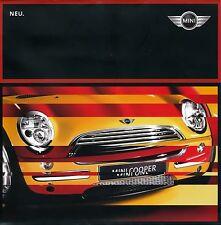 Mini One Cooper Prospekt 2001 brochure 1 11 050 142 10 (S) 2 2001 Auto PKWs car