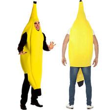 Adult Unisex Funny Banana Suit Yellow Costume Light Halloween Fruit Fancy Dress