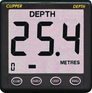 NASA Clipper Echolot Depth mit Geber / Schwinger Tiefenmesser Tiefenanzeiger