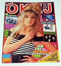 MANDY SMITH Okej Magazine 1987 Sweden Kiss Band Ace Frehley Madonna Samantha Fox