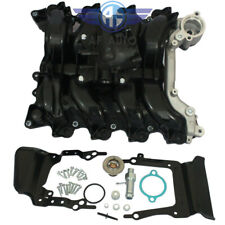 Upper Engine Intake Manifold W/ Thermostat & Gaskets Kit For Ford E250 E150 Lobo