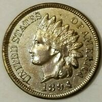 NICE 1894 INDIAN HEAD CENT AU LIGHTLY CIRCULATED BETTER DATE!