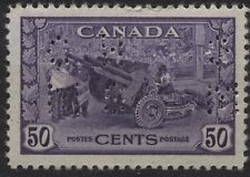 Canada 1942 O261 50c Munitions 4 hole OHMS official mint w hinge mark