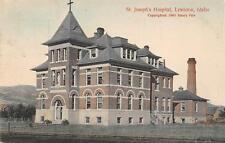 Lewiston Id St Joseph's Hospital Idaho Hand-Colored Postcard Copyright 1905