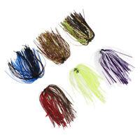6pcs Bundles Silicone Skirts DIY Salty Rubber Jig Lures Squid Fishing Bait Kits