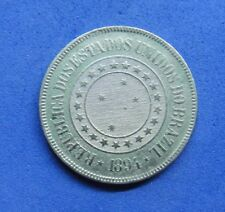LB) Brazil Brasil -  200 Reis 1894 KM#493   NICE COIN