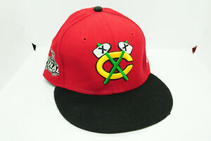 Red New Era 59Fifty Chicago Blackhawks 2010 Stanley Cup Fitted Hat Cap Sz 7 3/4