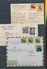 XC75937 Ecuador airmail butterfly stamps covers used
