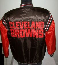 CLEVELAND BROWNS Starter Throwback Snap Down Jacket  BROWN/ORANGE 3X 4X 5X
