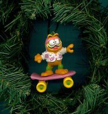 "Garfield cat rides Skateboard 4 "" figure custom themed Christmas tree ornament"