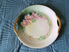 "Vintage Moschendorf Bavaria Handpainted Handled 9-1/2"" Plate"