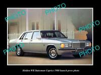 OLD POSTCARD SIZE PHOTO OF GMH 1980 WB HOLDEN STATESMAN LAUNCH PRESS PHOTO