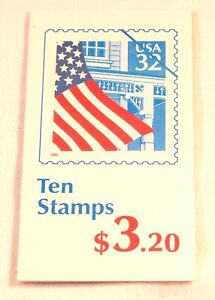 1995 Flag over Porch 10- 32¢ stamp booklet  year in red Scott 2916