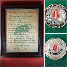 Mc-Better: Socom Coin and Personalized Men of the Green Beret Framed