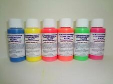 Fluorescent Black Light Paint Set 1 oz 6 Pack
