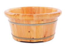 Luxury Cedar Wood Foot Spa Massager Aromatherapy Foot Tub Barrel