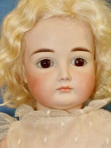 Lovely Reproduction Kestner Pouty Bisque Head Child Doll