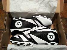 Warrior Burn 7.0 Low Lacrosse Cleats - Black on White -  BURN7LBKV - NEW