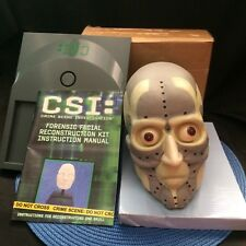 CSI Forensic Facial Reconstruction Kit Skull Halloween Prop Crime Modeling Clay