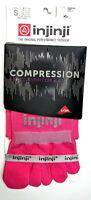 Injinji Compression Womens Toe Socks Pink Womens Ex-Celerator SMALL Running