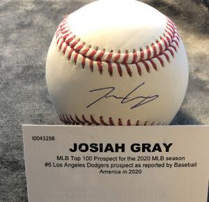 Josiah Gray Signed Autographed ML Baseball TRISTAR COA #1 Dodgers Prospect