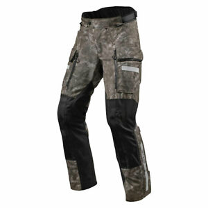 Revit Sand 4 H2O Motorcycle Waterproof Touring Textile Pants Camo Brown