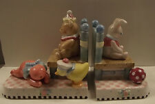 Mary Engelbreit Lullaby Nursery Themed Ceramic Bookends 2000 Chips & Crack