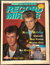 Record Mirror Magazine Sept 10th 1983, Roman Holiday, Kid Creole, Shakatak #B526