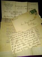 1 Cent George Washington Stamp ~ Unique Ephemera Letters In One Envelope