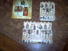 3 Decorative birdhouses switch plate covers