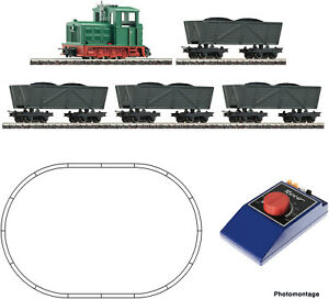 HOe Scale Train Set - 31034 - Light railway diesel locomotive with tipper wagon