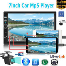 """7"""" 2DIN Car Radio MP5 Player 1080P Rear View Camera Android iPhone Mirror Link"""