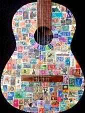 Timbre Guitare (seront Post) avec timbres du monde entier grand affichage de l'objet