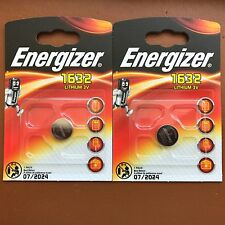 2 x Energizer 1632 CR1632 3V Lithium Coin Cell Battery DL1632 KCR1632, BR1632